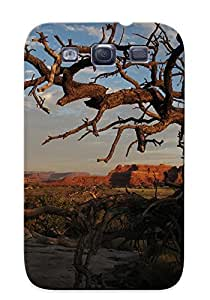 OmjkZLN3382bvSGa Anti-scratch Case Cover Improviselike Protective Dried Out Tree Case For Galaxy S3