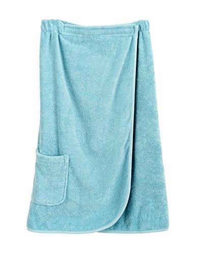 TowelSelections Women's Wrap, Shower & Bath, Terry Spa Towel X-Large Blue Glow