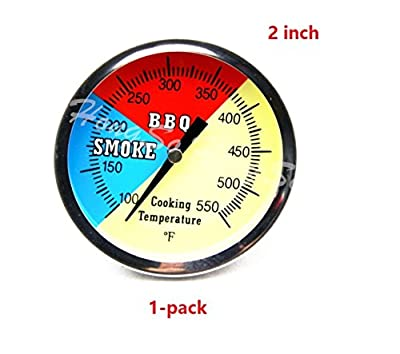Hongso 550F BBQ Charcoal Grill Pit Wood Smoker Temp Gauge Thermometer