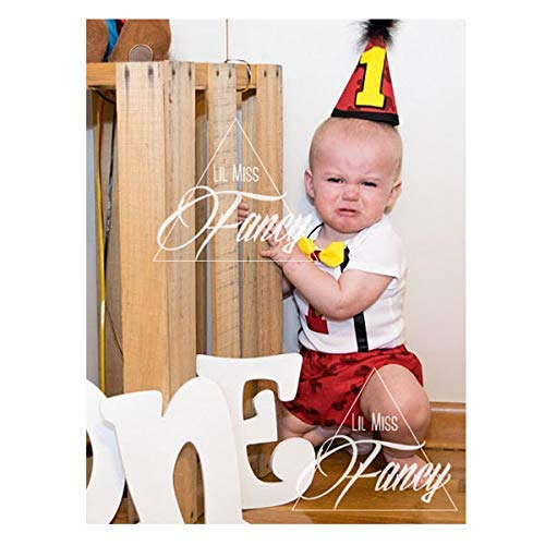 Disney Mickey Mouse First Birthday Cake Smash Outfit And Onesie W Optional Party Hat