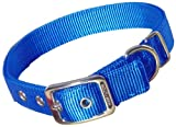Hamilton Double Thick Nylon Deluxe Dog Collar, 1-Inch by 18-Inch, Blue, My Pet Supplies
