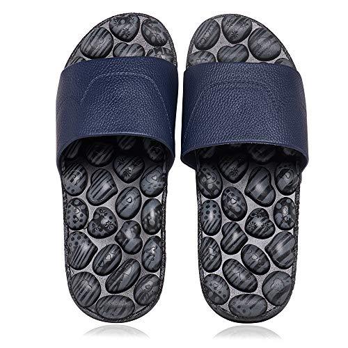 BYRIVER Plantar Fasciitis Foot Massager Garden Pool Beach Casual Slippers Flip Flops Sandals for Men Women (45)