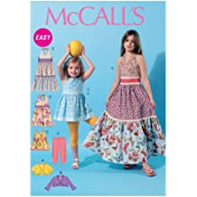 McCall's Patterns M6549 Children's/Girls' Unlined Jackets/Top/Dresses and Leggings, Size CCE (3-4-5-6)