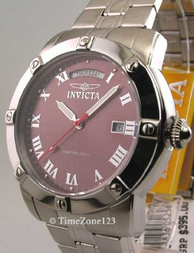 Mens Invicta Steel Sport 10 Atm Day Date New Watch 5258