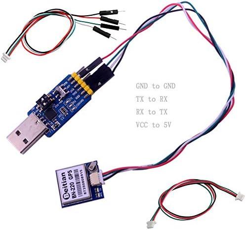 Beitian BN-220 GPS Modul mit Flash + GPS Passive Antenne + CP2102 USB zu TTL für Arduino Raspberry Pi Flight Control DIYmalls