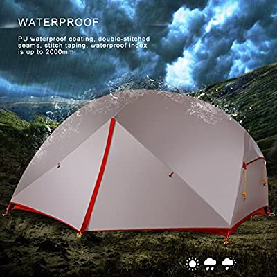 WolfWise 2-Person 4-Season Waterproof Lightweight Backpacking Tent