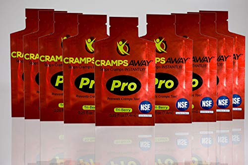 CrampsAWAY Pro - 9 Pack All Natural Instant Cramp Relief, Prevents Cramps Too, Leg, Muscle, and Nighttime Remedy | Safe and Effective Non Drug, NSF Certified for Sport (Best Muscle Enhancing Drugs)