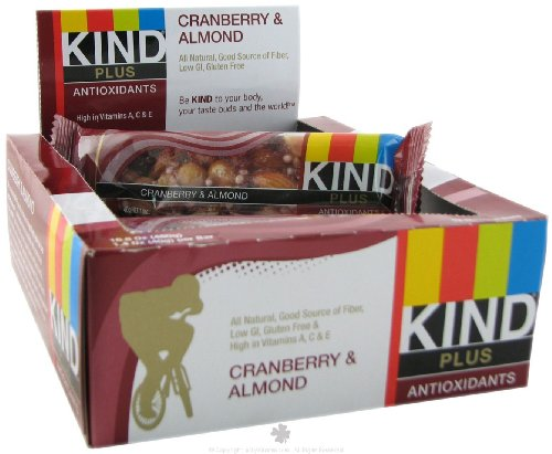 KIND FRUIT & NUT BARS BAR,CRANBRY & ALMOND, 1.4 OZ