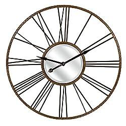 IMAX 27510 Carolyn Kinder Rocca Oversized Wall Clock, Rust/Black