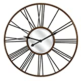 Carolyn Kinder IMAX 27510 Rocca Oversized Wall Clock, Rust/Black For Sale