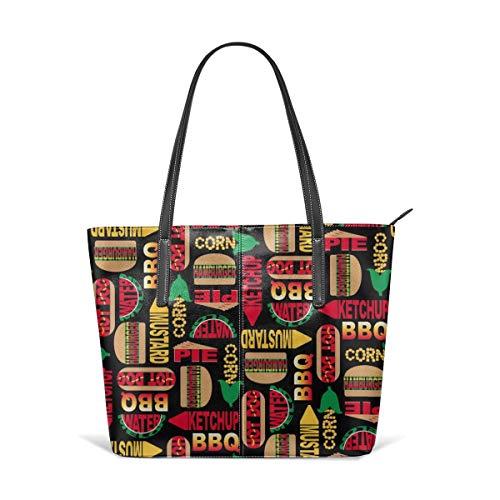Handbags For Women,Backyard BBQ (Lg Satchel Leather Shoulder Bag,Totes Purses Messenger Bags (Best Bbq In Katy)