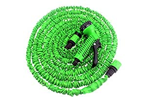 32 Feet Expandable Water Hose with Spray Nozzle Combo Color Green