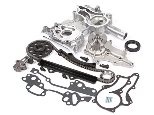 Evergreen TCK2000WPT 85-95 Toyota 2.4 SOHC 8V 22R 22RE 22REC Timing Chain Kit w/ Timing Cover Water Pump (Timing Chain Toyota 22r compare prices)