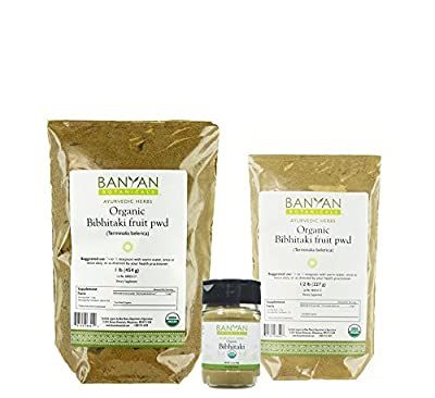 Banyan Botanicals Bibhitaki Powder - Certified Organic, Terminalia belerica - Detoxification and rejuvenation for kapha*