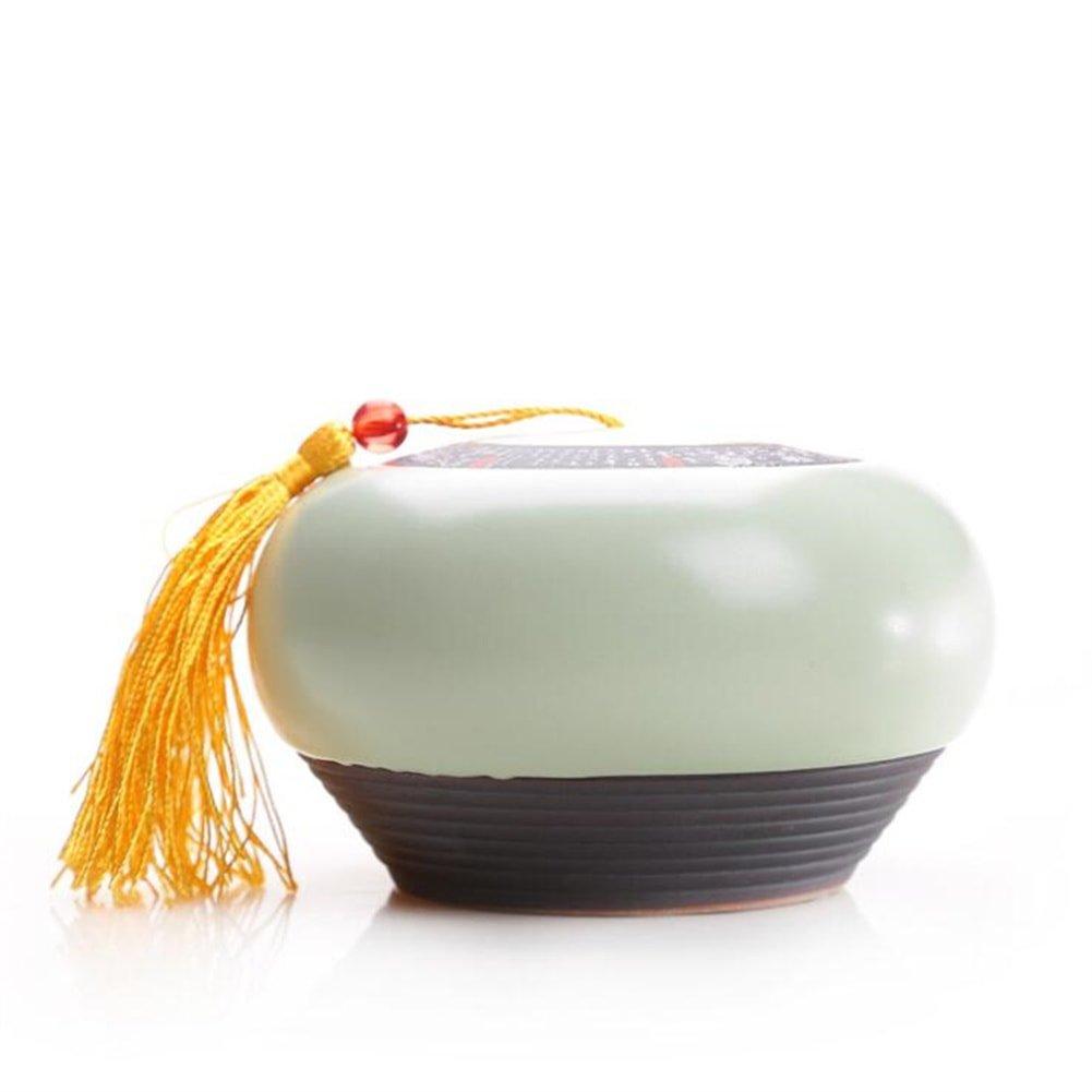 茶入 茶缶 陶磁器 小さいサイズの 茶葉を保管する コーヒー ティー用品 B079DJZC5H 汝窯 汝窯