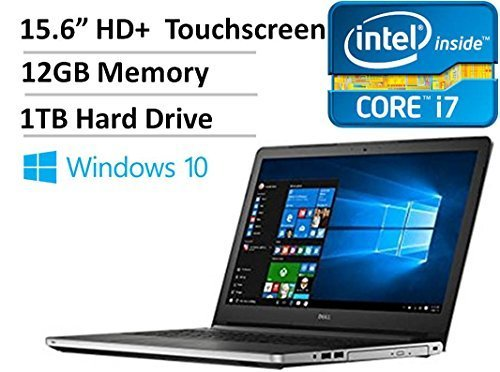 "Price comparison product image 2016 Dell Inspiron 5000 15.6"" Touchscreen High Performance Laptop PC, Intel Core i7-5500U Processor, 12GB RAM, 1TB HDD, DVDRW, Wireless AC, HDMI, Bluetooth, Backlit Keyboard, Win 10"