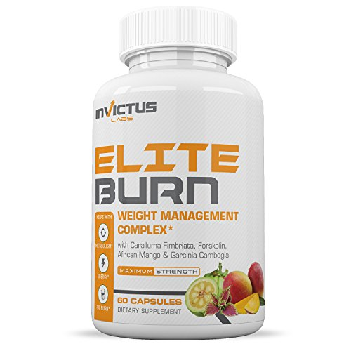 Elite Burn Weight Loss Pills That Work, Appetite Suppressant & Carb Blocker with Caralluma, Garcinia Cambogia, Green Coffee Bean Extract, Green Tea Extract – 60 caplets