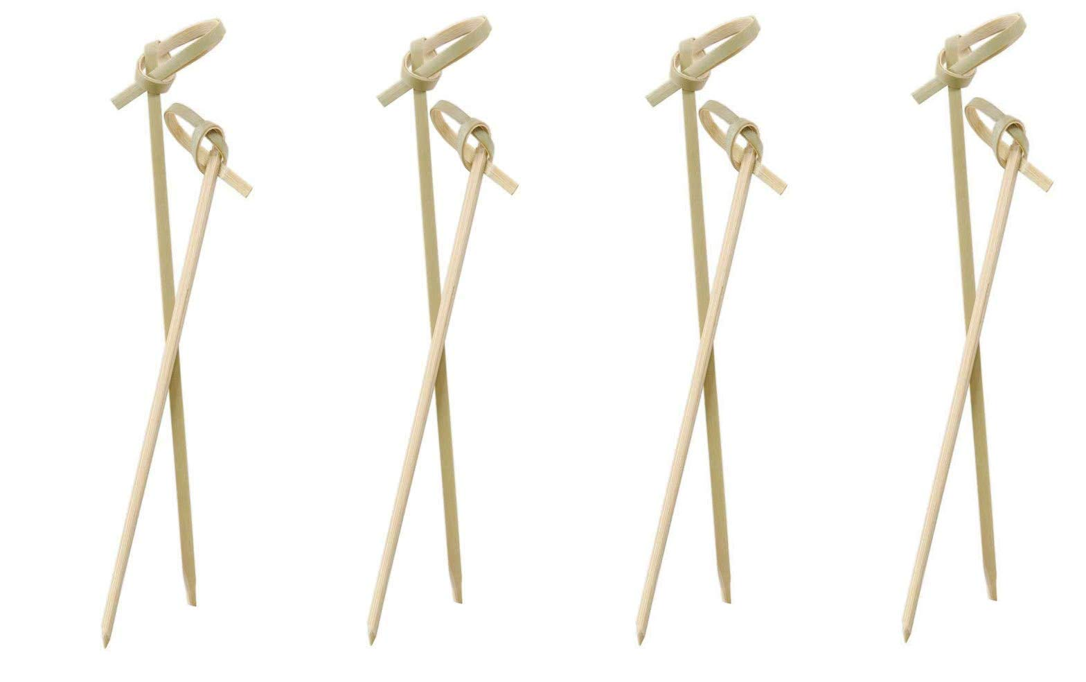 Perfectware Bamboo Knot 4-300ct 4'' Bamboo Knot Picks (Pack of 300) (Fоur Paсk)