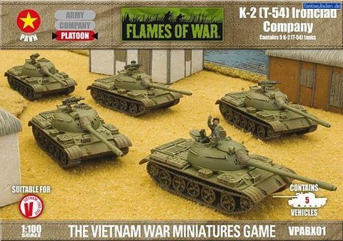 Flames of War - K-2 (PT-54) Ironclad Company - Scale 1:100 - VPABX01 - NEW by Flames of War ()