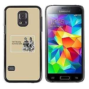 TECHCASE**Cubierta de la caja de protección la piel dura para el ** Samsung Galaxy S5 Mini, SM-G800, NOT S5 REGULAR! ** Gay Funny Quote Dude Touch Relationships