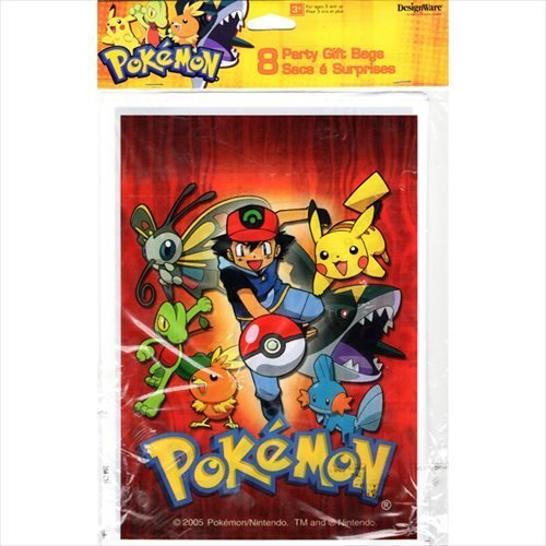 Pokemon Favor Bags 8ct 8 Per Pack 65 Inches By 9 Made Of Thin Lightweight Plastic