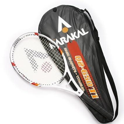 Karakal Q2 – 650 Ti Nano grafito – Raqueta de tenis (titanio RRP £55