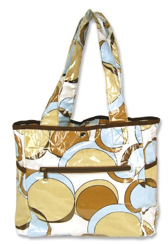 Trend Lab Brown Bubbles - Trend Lab Tulip Tote Style Diaper Bag, Bubbles Teal (Discontinued by Manufacturer)