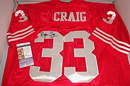 Roger Craig Signed San Francisco 49ers Jersey, JSA Authenticated ...