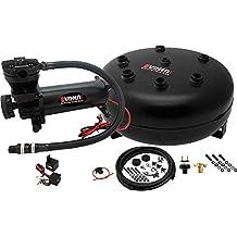 Vixen Air 4 Gallon (15 Liter) Pancake Air Tank with 200 PSI Black Compressor Onboard System/Kit for Suspension/Train Horn 12V VXO4840B