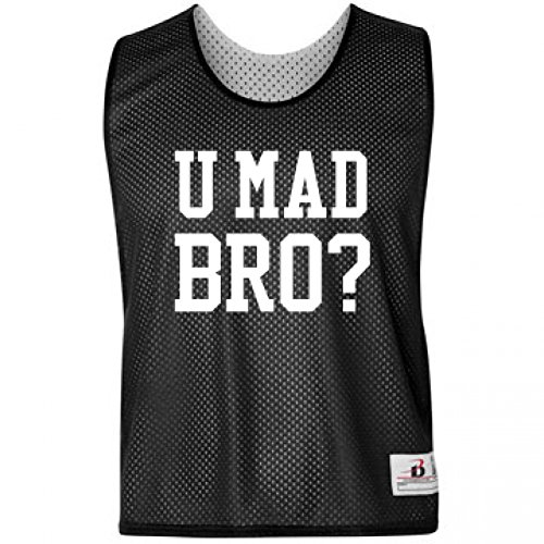 U Mad Bro? Pinnie: Badger Sport Lacrosse Reversible Pinnie (Lax Pinnies Men)