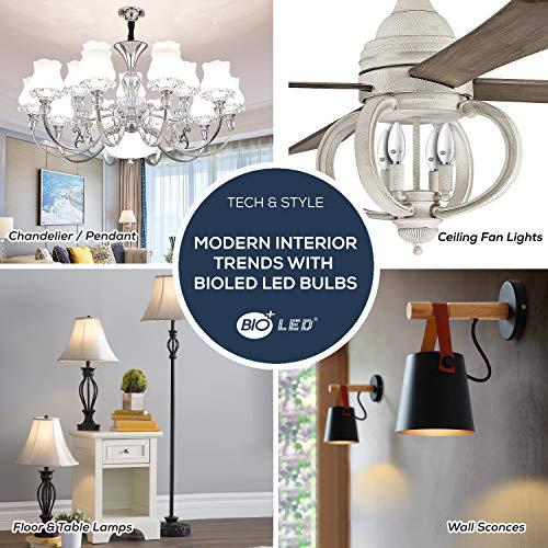 Bioled 10 Pack E12 5W (60Watt Equivalent) Warm White 3000K LED Light Bulbs, Ceiling Fan Light Bulbs, Small Base Lightbulbs, Chandelier Light Bulbs, Candelabra LED Bulbs, Type B11 Bulb, Candle Bulb