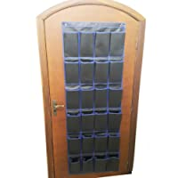 Organizador Sapateira de Porta ou Parede 24 Divisória Modelo Grande 183cm com Ganchos para Encaixe
