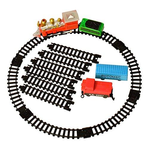 Modelleisenbahn Spielzeug in nostalgischer Metalldose - Modellbahn Retro Zug Dampflok