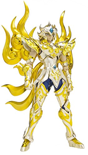 Tamashii Nations Bandai Saint Cloth Myth EX Leo Aioloa God Cloth Saint Seya Action Figure - Gold Saint