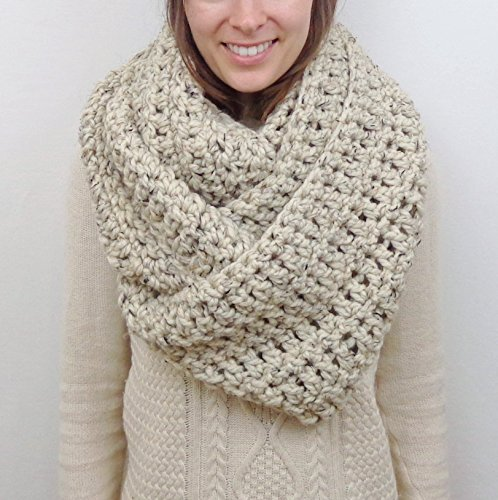 Giant Knit Infinity Scarf (Choose your Color)