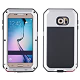 Samsung S6 Case, I3C Waterproof Shockproof Aluminum Gorilla Glass Metal Case Cover For Samsung Galaxy S6 Silver