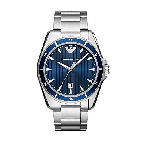 Emporio Armani Men's 'Sport' Quartz Stainless Steel Casual Watch, Color:Silver-Toned (Model: AR11100) ()