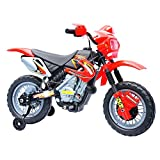 Qaba Aosom 6V Electric Kids Ride On Motocross Outdoor Recreation Dirt Bike - Red