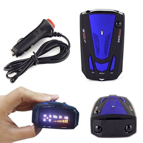 360 Degree 16 Radar Detector : Car Band V7 GPS Speed Safety Voice Alert Laser LED Full