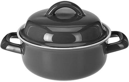 Cacerola para sopa, capacidad de 500 ml, cuenta con asas y tapa ...