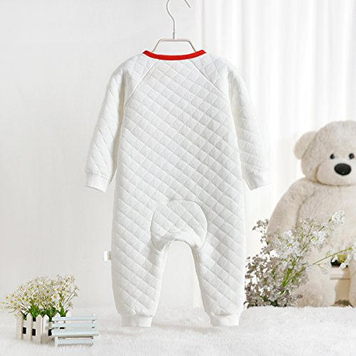 EsTong Baby Girls Boys Unisex Long Sleeve Combed Cotton Warm Footless Rompers Pajamas