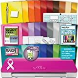 Pink Silhouette Cameo 3 Machine Bundle 1 -30 Oracal Vinyl PixScan Tools Designs