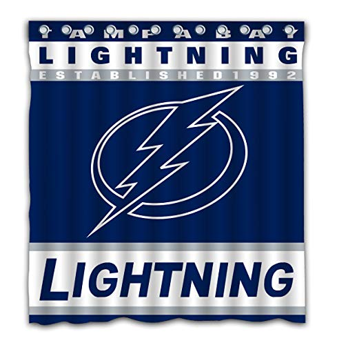 YBin Custom Tampa Bay Waterproof Shower Curtain Colorful Bathroom Decor Size 66x72 - Bed Bay Set Tampa Lightning