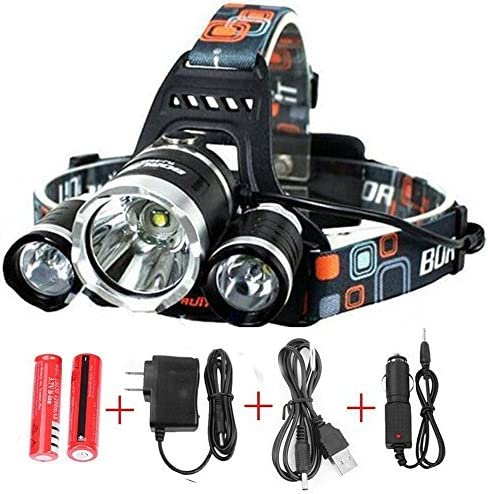 Genooo Hardhat Headlamp,Head Lights Led Rechargeable,Xtreme Bright Lamp,with Lantern Magnetic Box for Hunting,Adjustable Head Angle.Free Energizer Batteries