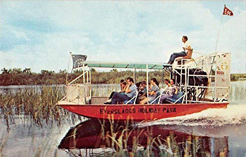 Fort Lauderdale Florida Everglades Holiday Park Airboat Postcard JC932397