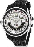 Vulcain Cricket X-TREME Mens Manual Wind Silver Face Alarm Black Rubber Strap Swiss Watch 101924.159RF