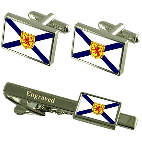 Drapeau de la Nouvelle-Écosse de manchette Cravate gravé Coffret Correspondance