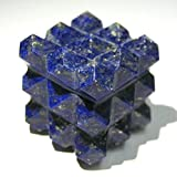 Protective Lapis Lazuli Gemstone Cube Pyramid Bagua Crystal Healing Home Office gift Metaphysical Positve Energy Meditation Reiki Feng Shui Wicca Throat Chakra Spiritual Wisdom peace health wealth
