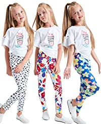 LUOUSE Girls Stretch Leggings Tights Kid...