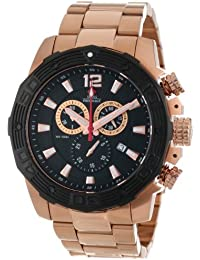Men's SP13268 Legion Reserve Pro Black Dial with Rose-Gold Stainless Steel Band Watch